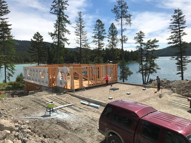 Ashley Lake House Framing