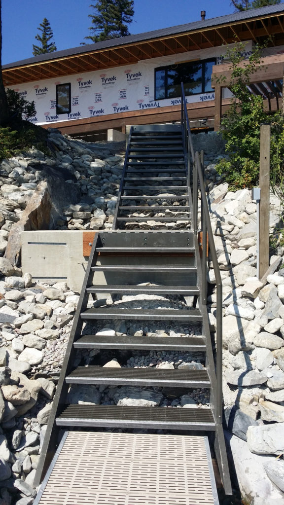 Ashley Lake Dock New Steps
